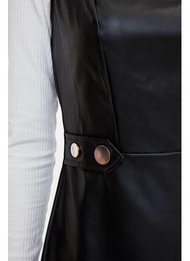 DeFacto Slim Fit Kolsuz Elbise Siyah